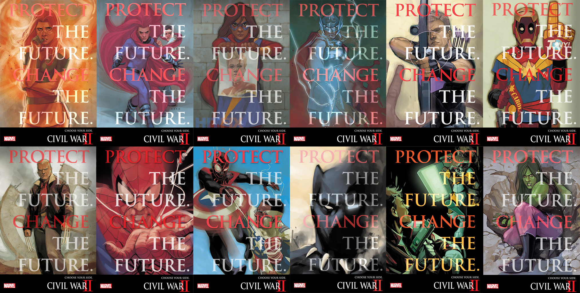 protect and change the future - Civil War 2Cover