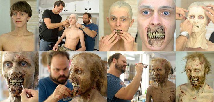 """The Walking Dead"" Zombie makeup"