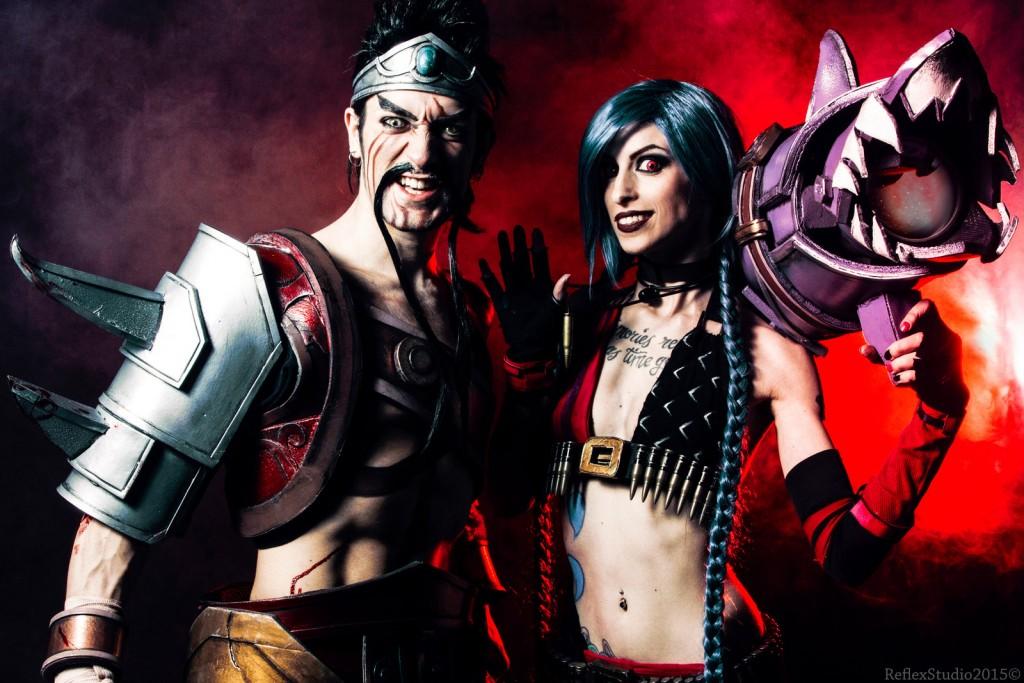 Leon Chiro e Miss Hatred, due dei maggiori interpreti del cosplay italiano, interpretano Draven e Jinx