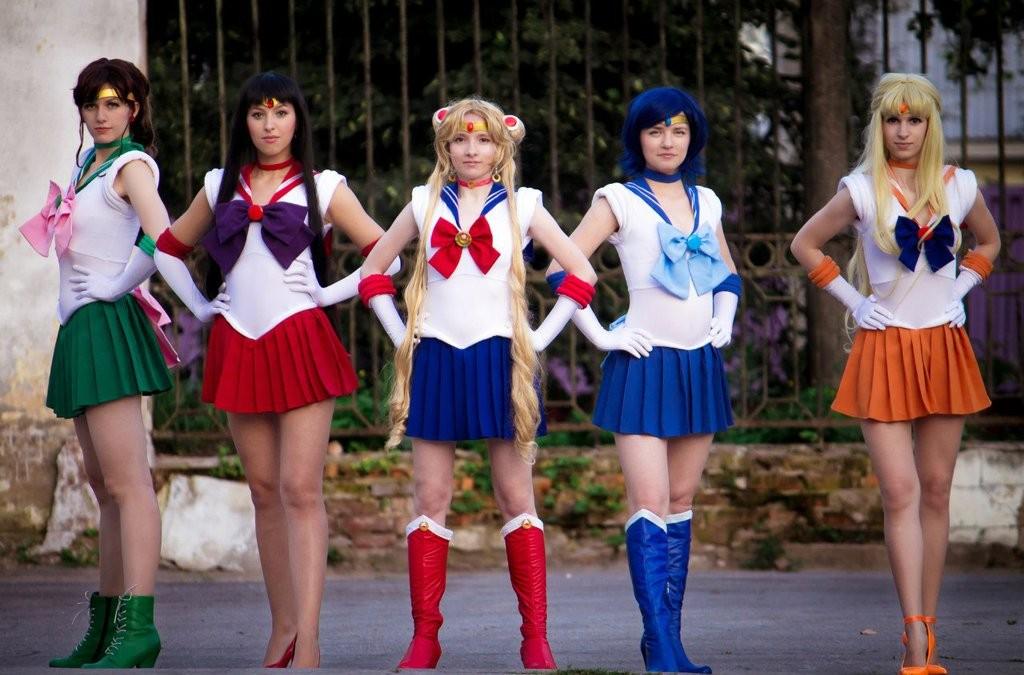 Gruppo Sailor Moon cosplay