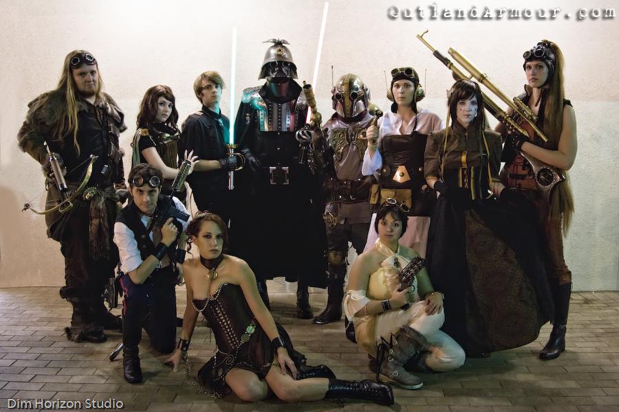 Gruppo genere cosplay steampunk star wars