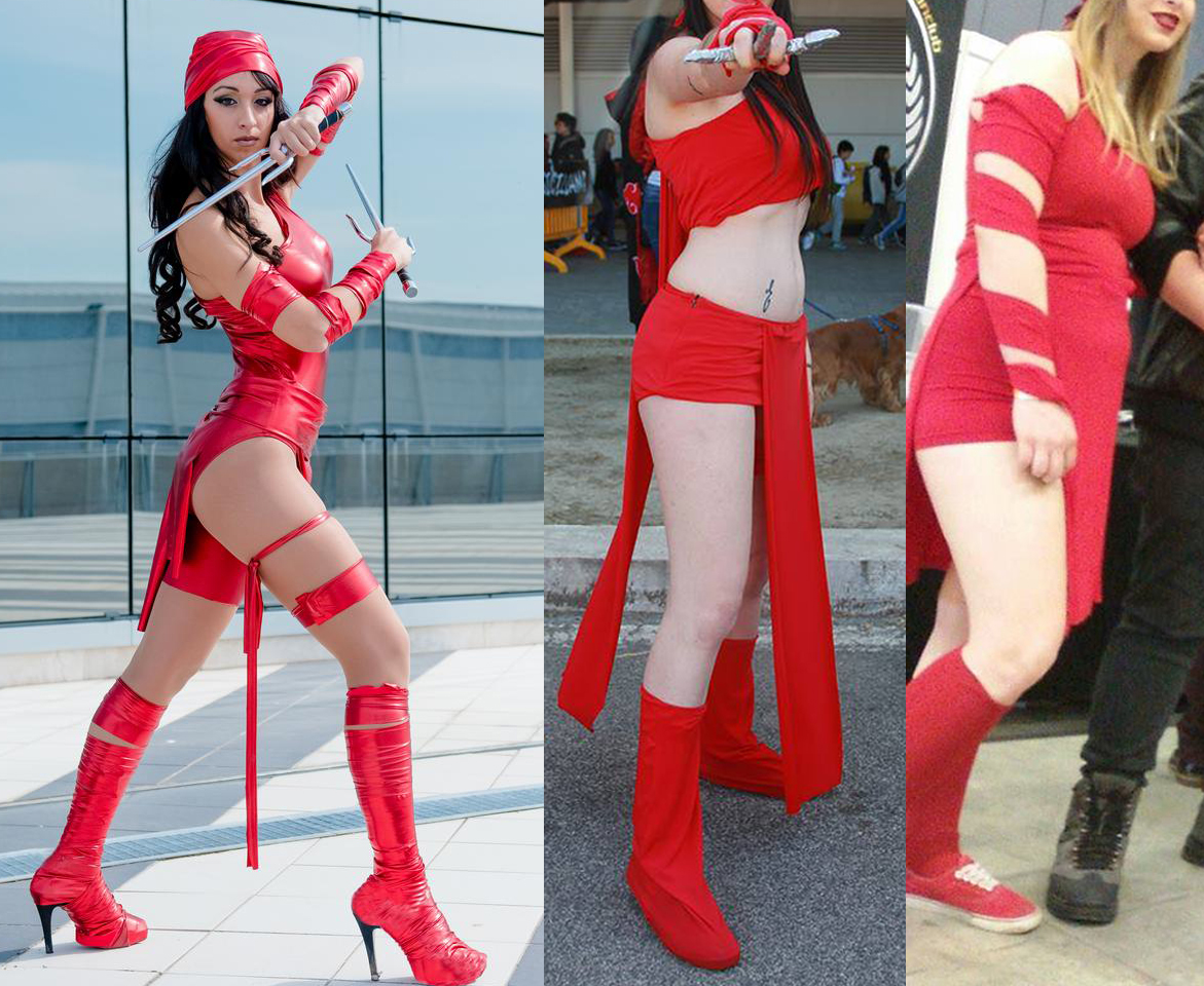 Elektra cosplay win and fail scarpe