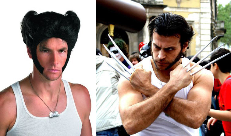 wolverine cosplay parrucca