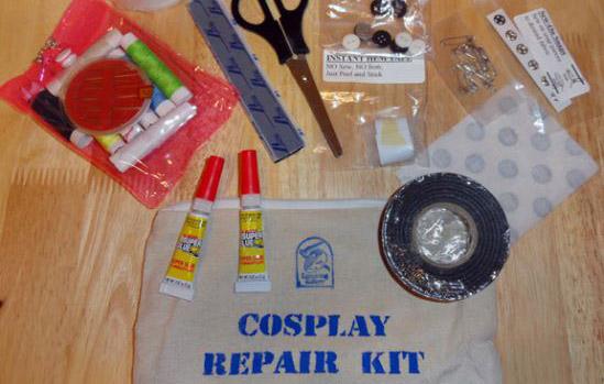 cosplay kit riparazione fiera