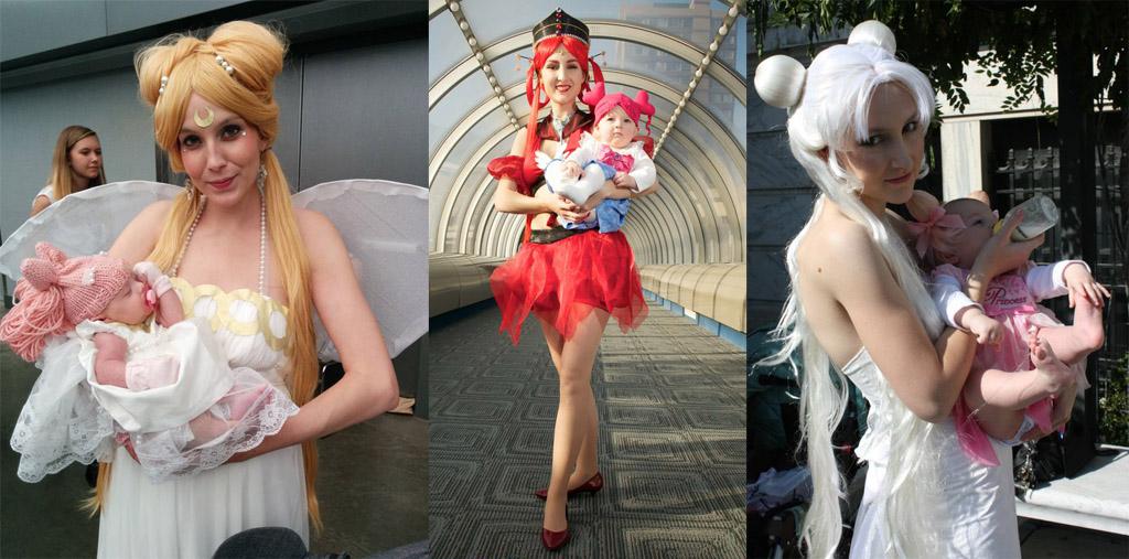 sailor moon cosplay maternità