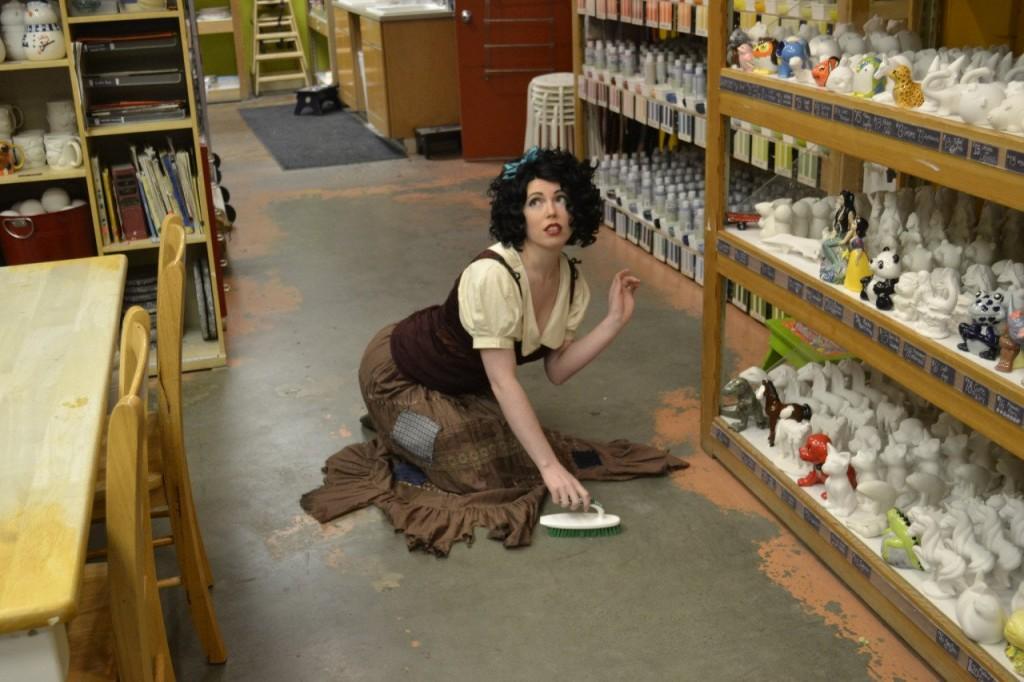 lavare costume cosplay fiera biancaneve cenerentola