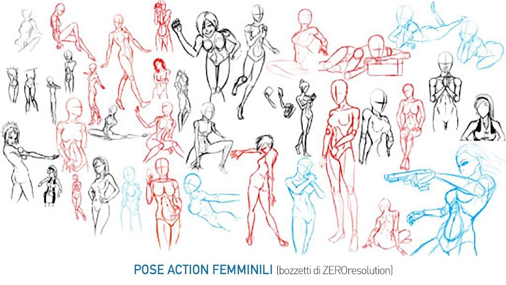 Pose-action-femminili