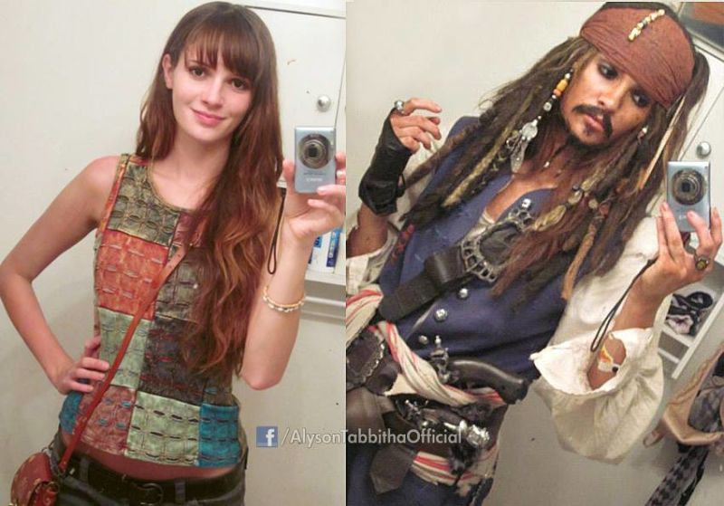Alyson Tabbitha crossplay Jack sparrow cosplay