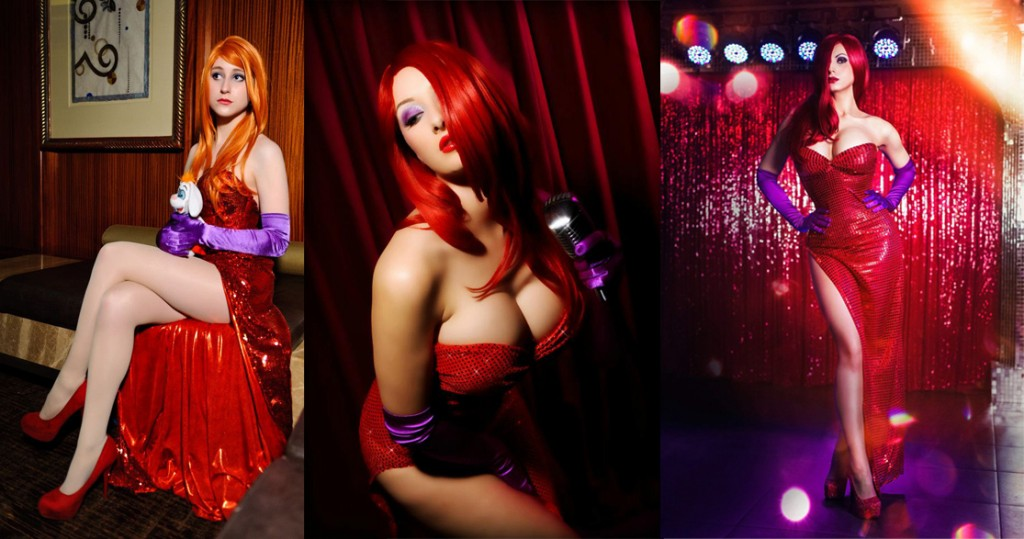 Jessica Rabbit cosplay pose