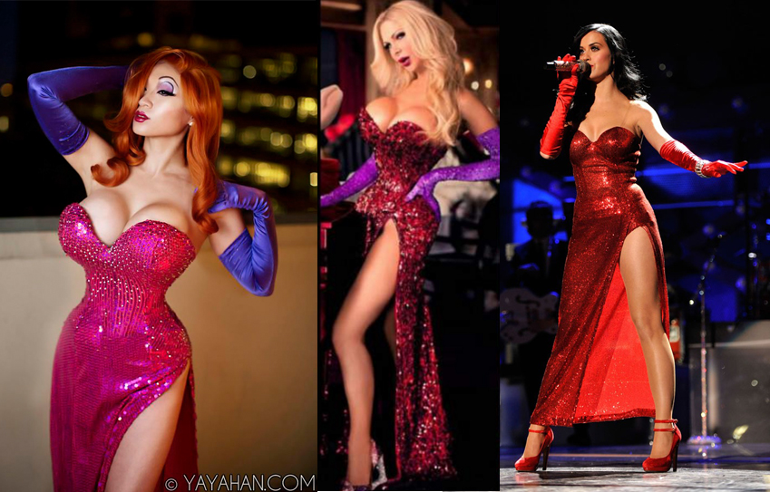 Jessica Rabbit Cosplay fail VS Win