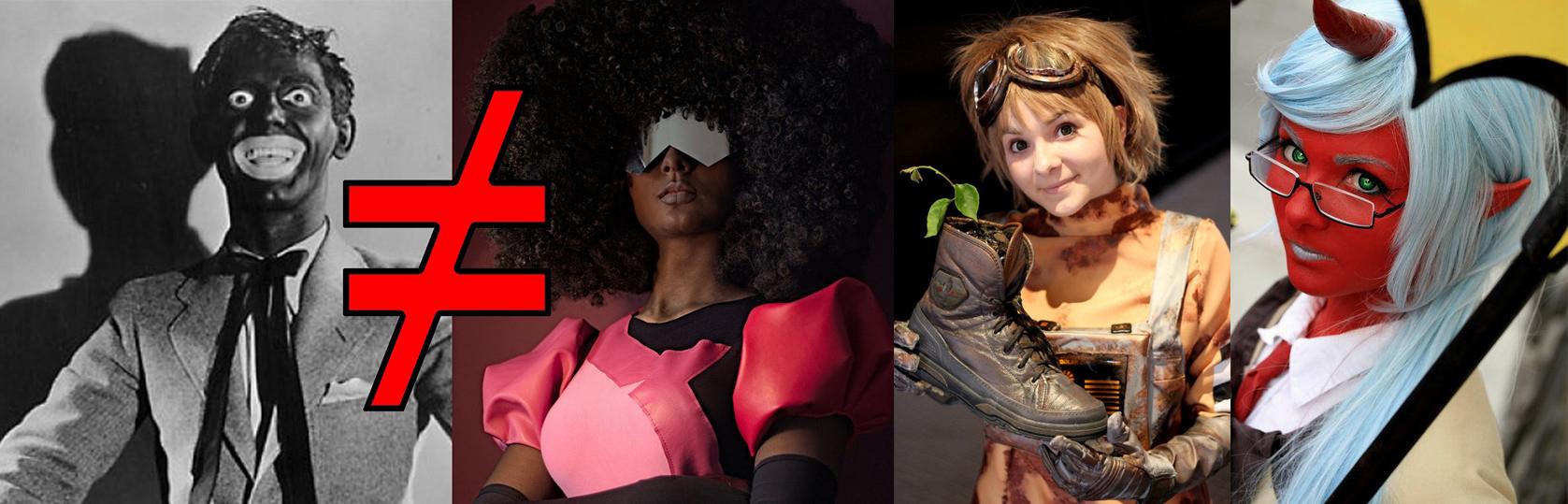 kou cosplay black racism