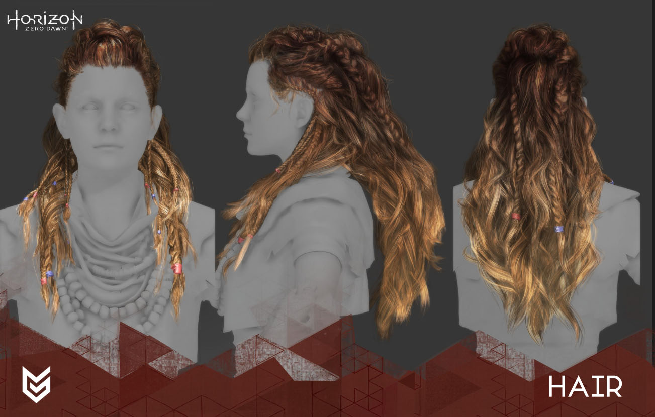Horizon Aloy hair