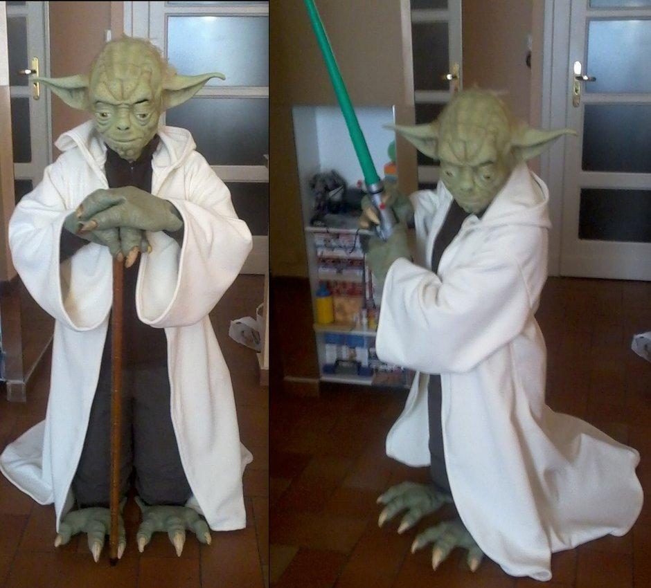 Il Maestro Yoda di Alessia Diri è il più credibile mai visto. Se non lo vedessimo in fiera, dell'altezza di una persona normale, senza oggetti con cui stabilirne le dimensioni, penseremmo sia il vero, piccolo Yoda. La sua altezza lo rende un cosplay meno riuscito? No! Perché sull'altezza non possiamo fare nulla se non giocare con le proporzioni