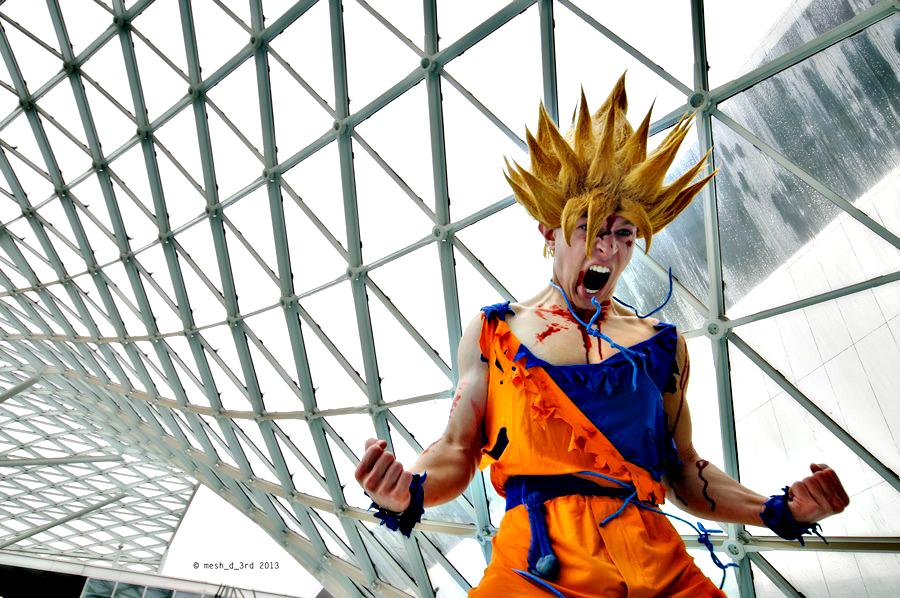 sarto goku cosplay damaged broken dragon ball