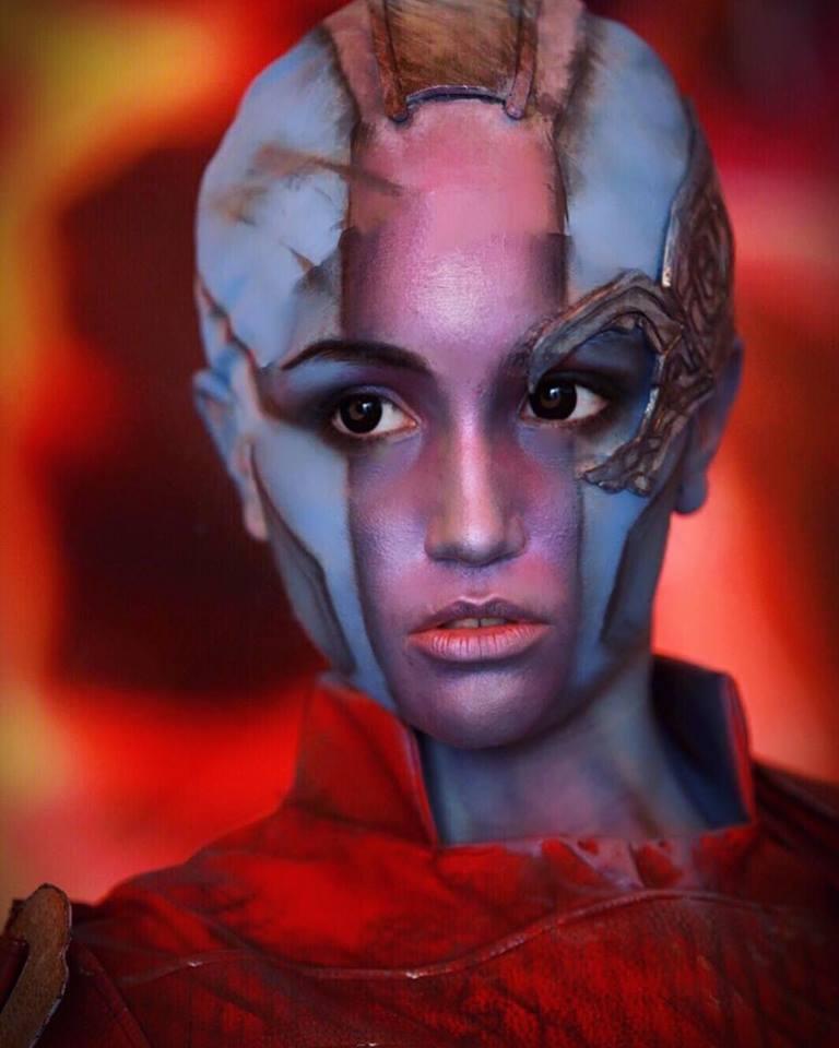 Guardiani della Galassia Nebula Cosplayer